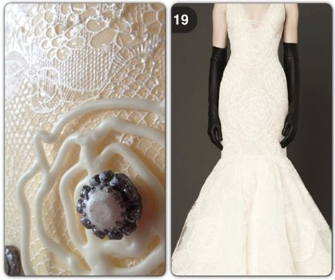 Sneak peak at the cake made for the Vera Wang fashion show and the dress that inspired it