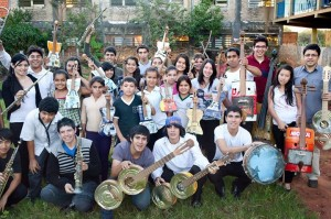 The Landfill Harmonic Orchestra creates instruments out of garbage