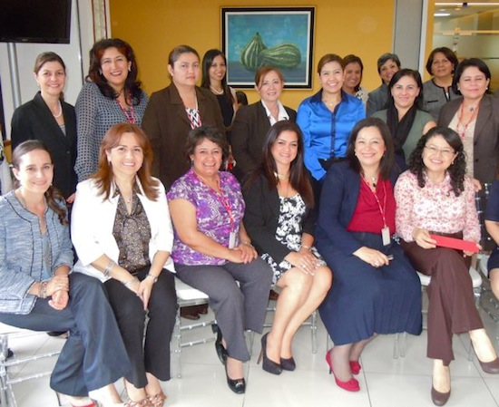 Each woman at Scotiabank in El Salvador has figured out how to make her own professional dress code work within the corporate culture