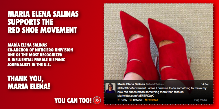 Talk to other women about the Red Shoe Movement