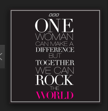 Let's rock the world together! Found: www.theglasshouseretreat.com | women supporting women quotes