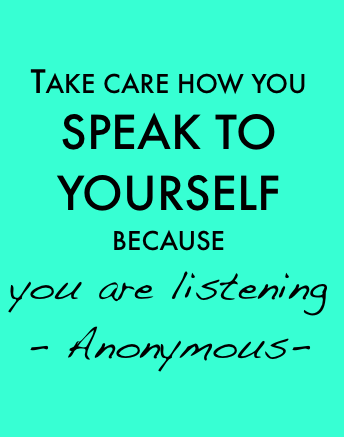Watch out for the ongoing background noise in your head. You're listening to every word! #quotes