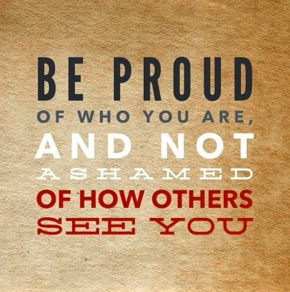 Be proud of yourself! | Self Esteem quote