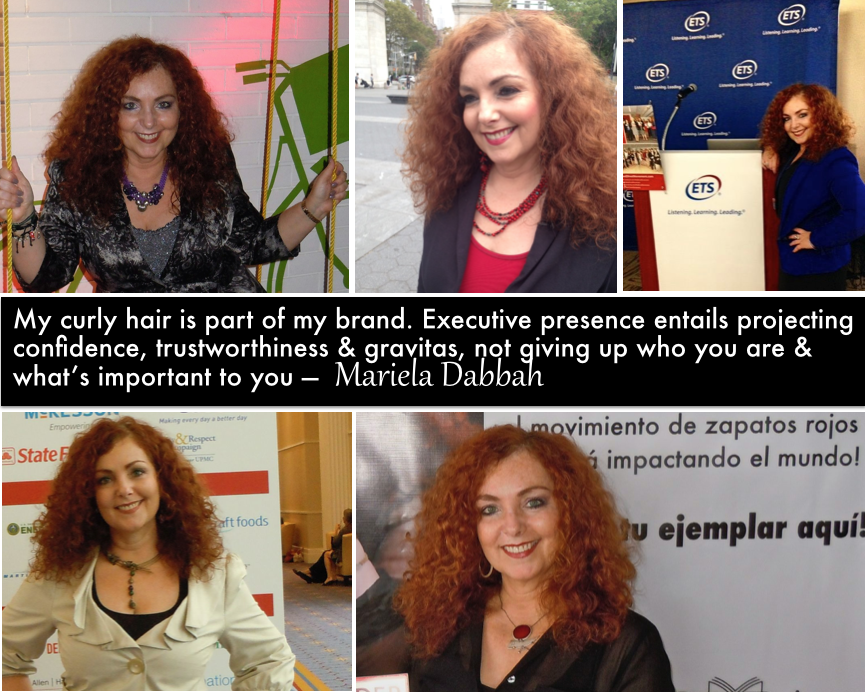 "Early-on in my career I was told to ""do something"" with my hair. I refused. It's always been part of my brand 