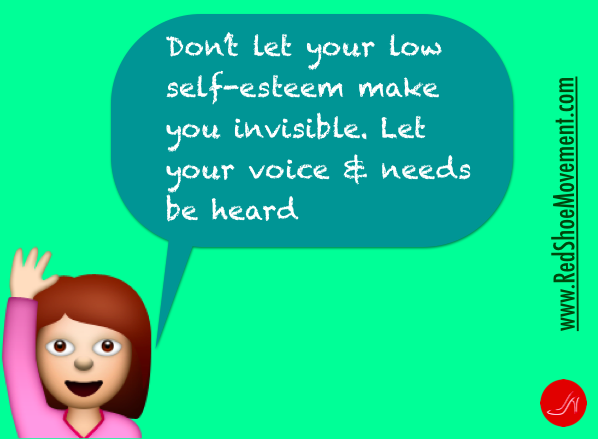 Speak up! | Self esteem boosters by the Red Shoe Movement