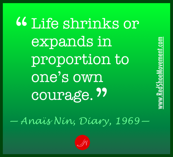 Anais Nin, a great self esteem booster