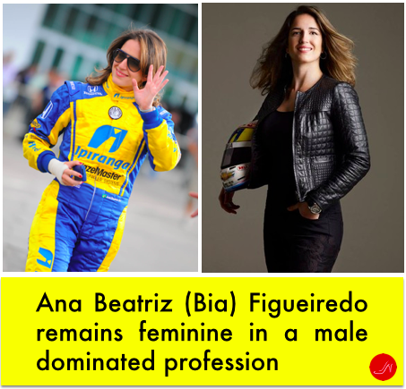 Ana Beatriz (Bia) FIgueiredo. One of the very few women in male dominated industries such as race car driving