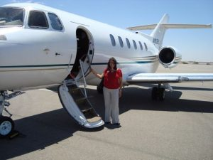 Her unique career path took Cosette Gutierrez to her current job at Target. Here, about to get on the Target Jet! Read her story!