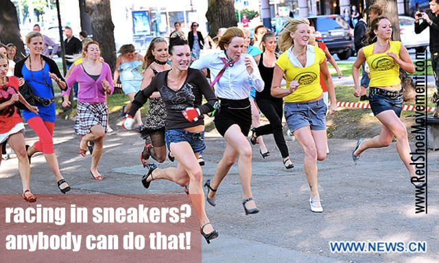 Racing in sneakers? Anybody can do that. Ways to engage employees and retain talent. Read on!