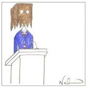 Fear of Public Speaking picture of person with brown bag over the head