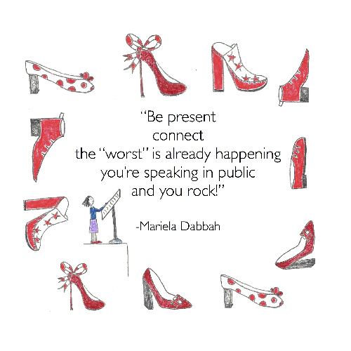 Fear of Public Speaking Quote by Mariela Dabbah