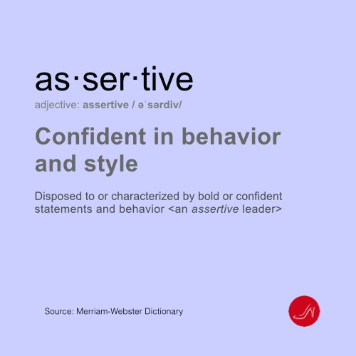 Assertive definition by Merriam Webster