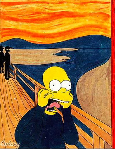 Parody of The Scream by artist Meowza