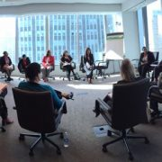 MetLife Mutual Mentoring Circle about Executive Presence, facilitated by Lily Benjamin at RSM Signature Event 2015