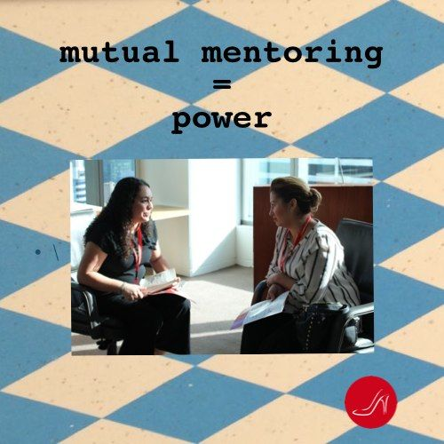 Women mentoring each other