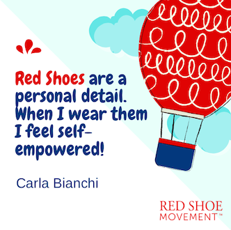 Carla Bianchi, digital marketing expert and Red Shoe Movement ambassador