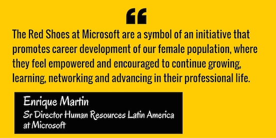 Enrique Martin, Microsoft executive and strong supporter of women's career development