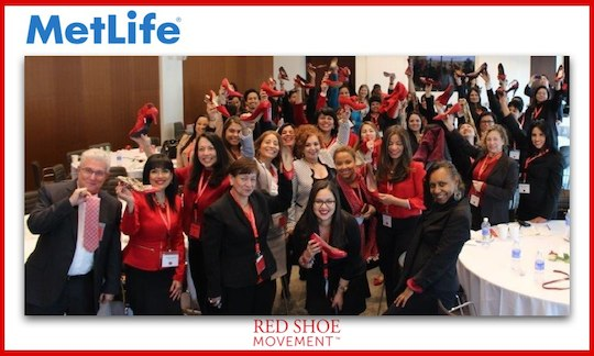 Red Shoe Movement Signature Event at MeLife, NYC