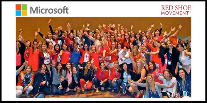 Red Shoe Movement event at Microsoft global sales conference, Orlando, Florida