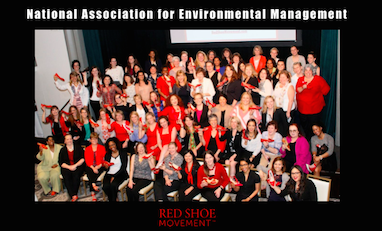 Red Shoe Movement event at National Association of Environmental Management