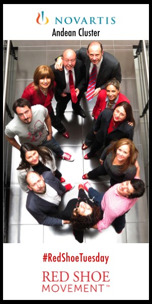 Novartis Andean Cluster celebrating Red Shoe Tuesday