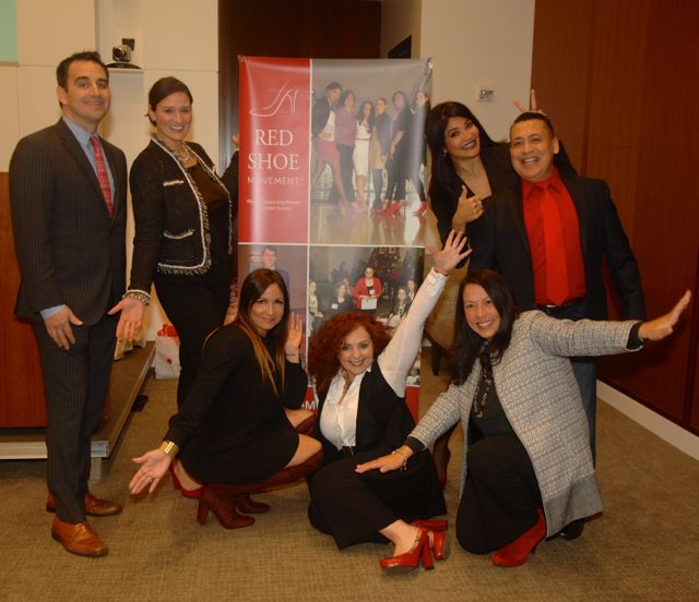From Left to Right (standing, kneeling and standing): Stephen Palacios, Jolanta Kordowski, Johanna Torres, Mariela Dabbah, Cosette Gutiérrez, Ali Curi and Lily Benjamin.