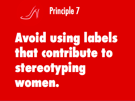 Principle 7 of the Red Shoe Movement deals with stereotype threat