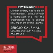 Sergio Kaufman, Country Managing Director and Leader of Hispanic South America, Accenture, is a strong proponent of verbalizing the inclusion and diversity priorities of an organization.