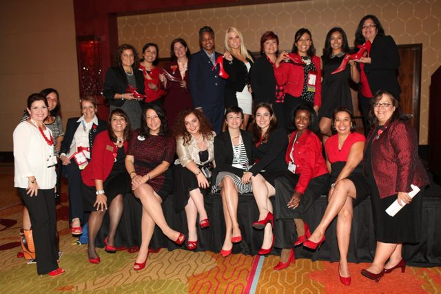 Women Leadership Network show their support for women career advancement and the Red Shoe Movement!