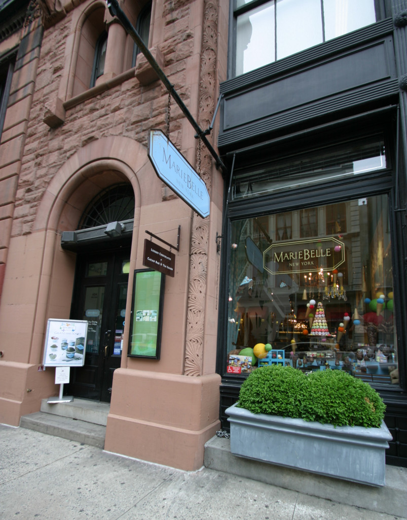 Successful Women in Business: MarieBelle New York - Her store front in Soho