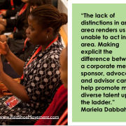 Making explicit the difference between corporate mentor, sponsor, advocate and advisor to promote talent up the ladder - by Mariela Dabbah