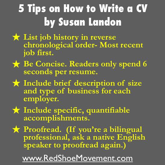 5 Tips on How to Write a Resume by Susan Landon | Infographic
