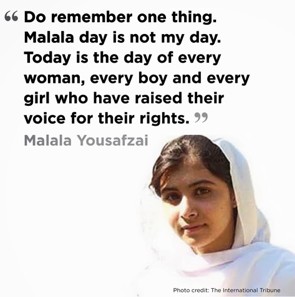 Malala's women supporting women quote - Take it from this wise young woman! Found: www.pukhtunkhwatimes.blogspot.com