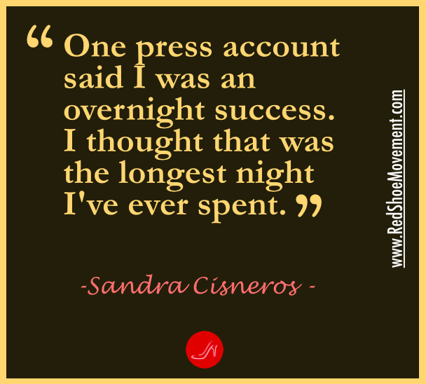 Don't get discouraged by how long everything takes to come to fruition. Nothing worth doing happened overnight. |Self esteem quote by Sandra Cisneros