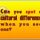 Spotting cultural differences