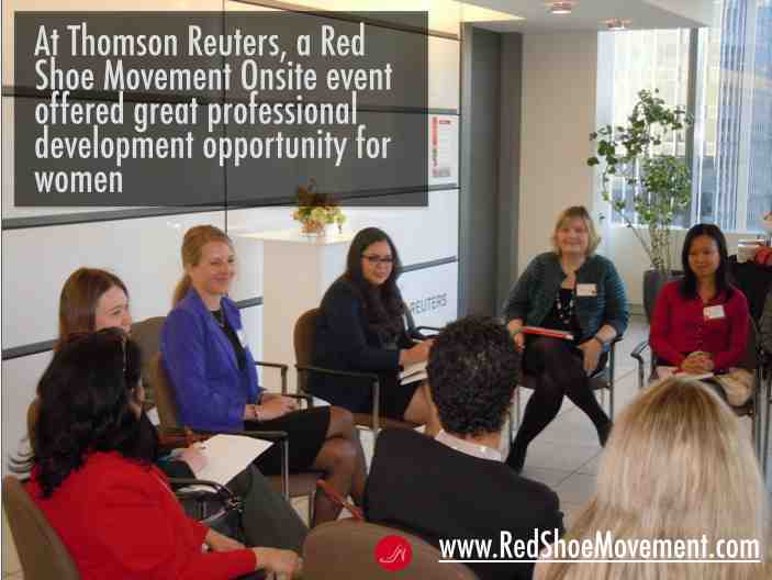 Red Shoe Movement OnSite session at Thompson Reuters