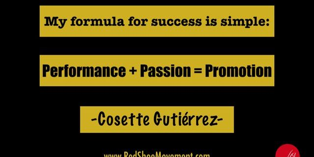 Cosette Gutierrez quote about unique career path success