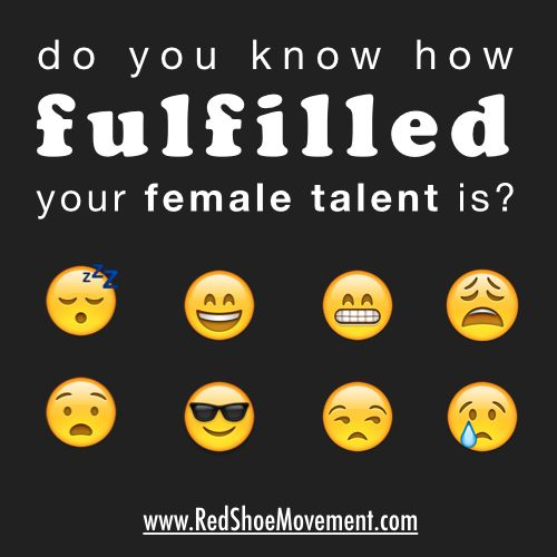 Do you know how fulfilled your female talent is. Different smiley faces help women identify their level of fulfilmment