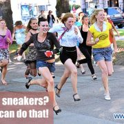 Racing in sneakers? Anybody can do that. Ways to engage employees
