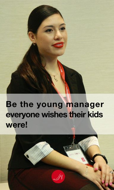 Young Managers of Older Employees - 4 Secrets to Success! Read on! | Featured here, Jenny Gracia a young manager, and a RSM Ambassador at a Red Shoe Movement event.