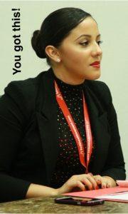 Mindalia de Jesus, a RSM Ambassador and young manager, featured at a RSM Event.