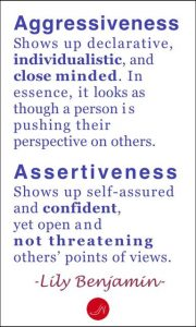 Understanding the fine line that distinguishes assertiveness and aggressiveness is a big step towards a successful job interview