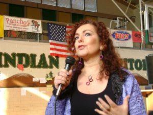 Mariela Dabbah Latina speaker presents at high school in Texas