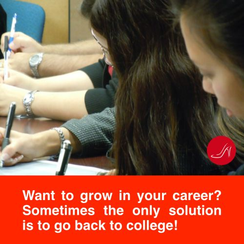 Want to grow in your career? Sometimes the only solution is to go back to college.