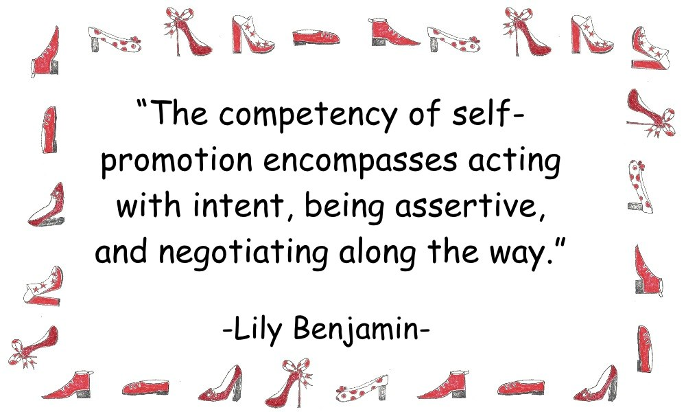 Self Promotion quote by Lily Benjamin