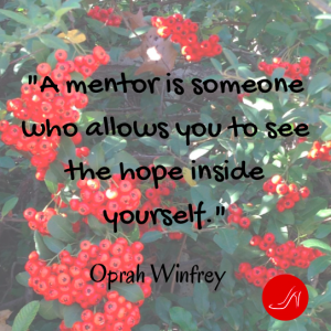 Mentoring quote by Oprah Winfrey