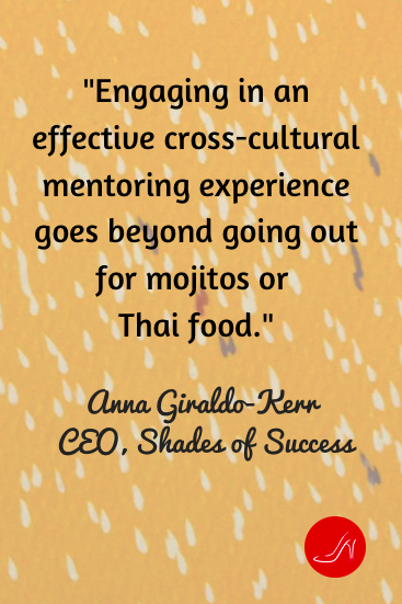 If you are looking for an honest cross cultural mentoring relationship, you definitely have to go beyond the food. But going out for a bite is a great way to get the conversation going!