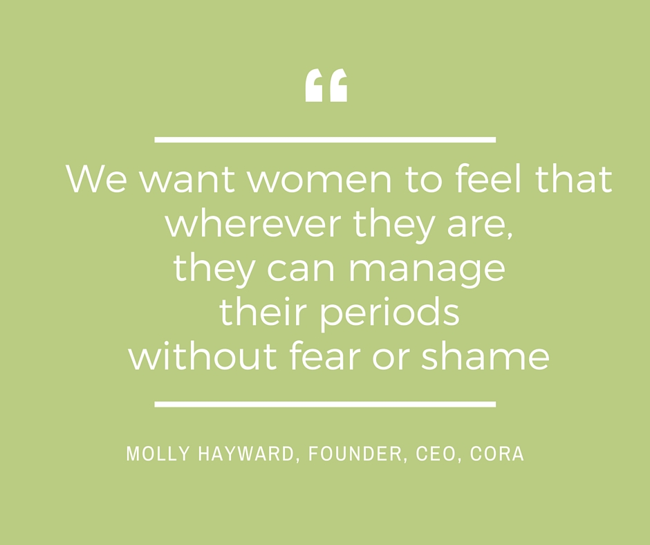 For too long women's periods have been a source of stress at work. Molly Hayward is set to change that!