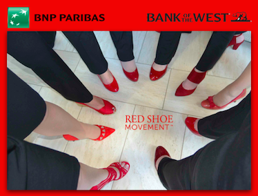 Bank of the West celebrating Red Shoe Tuesday