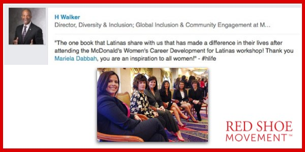 H Walker, Director D & I at McDonald's posts about the impact of Find Your Inner Red Shoes on the women taking their leadership program